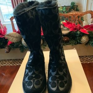 COACH TERI BOOT BLACK 8 Like NEW